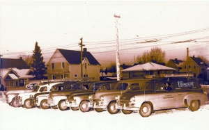 Our Fleet circa 1954 in Alberta - Fluorescent Sales and Service