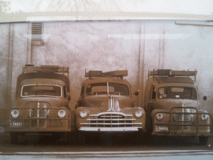 Our Fleet of Service Vans circa late 1950's